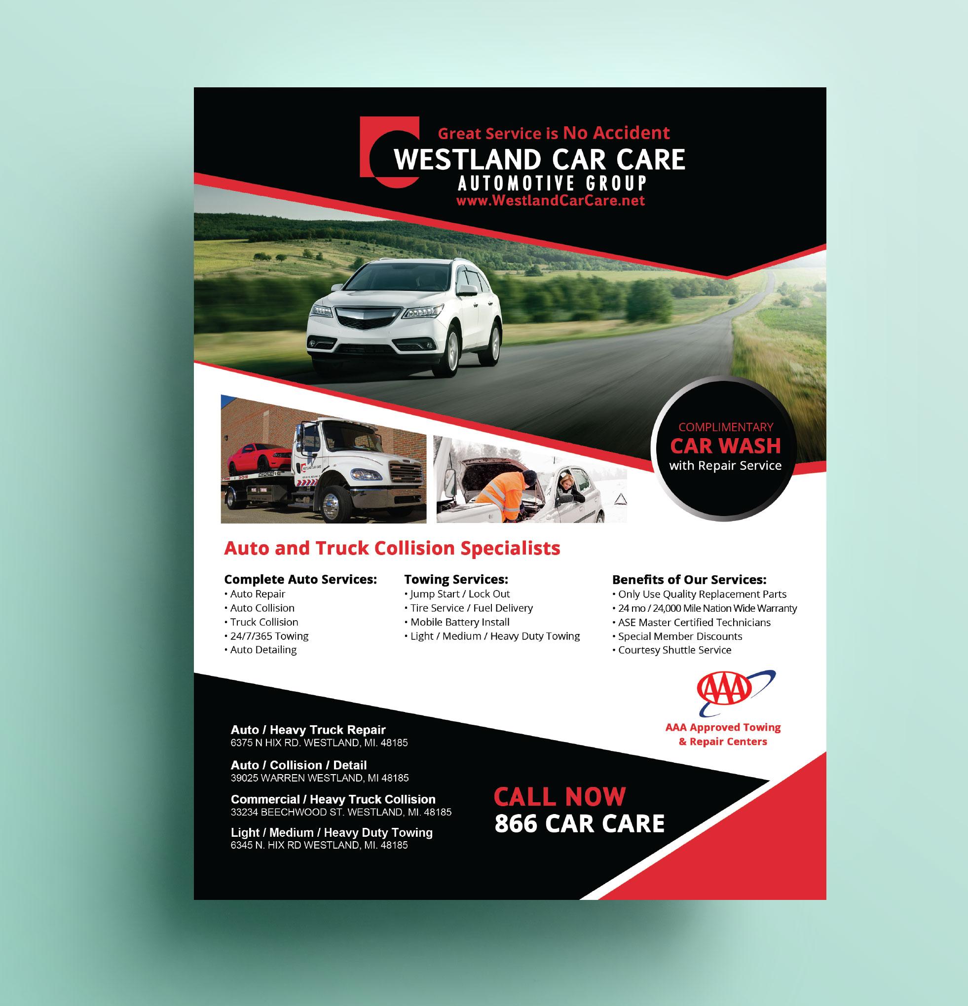 Westland Car Care Flyer